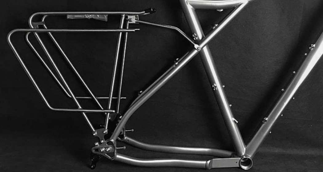 binary havok titanium adventure frame profile with rear rack