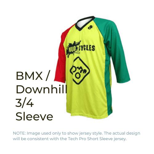 Binary Bicycles Winter 2019 BMX Downhill Jersey 3/4 sleeve