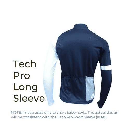 Binary Bicycles Winter 2019 Tech Pro Long Sleeve Jersey back view