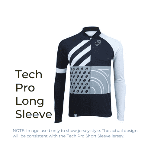 Binary Bicycles Winter 2019 Tech Pro Long Sleeve Jersey front view