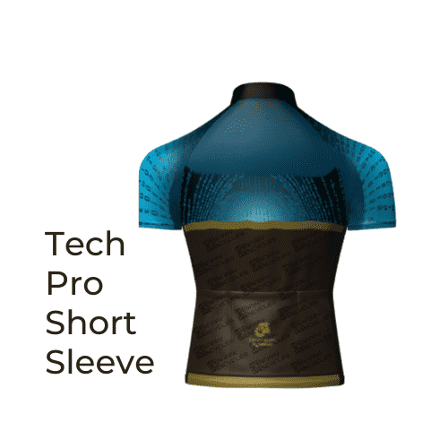 Binary Bicycles Winter 2019 Tech Pro Short Sleeve Jersey back view
