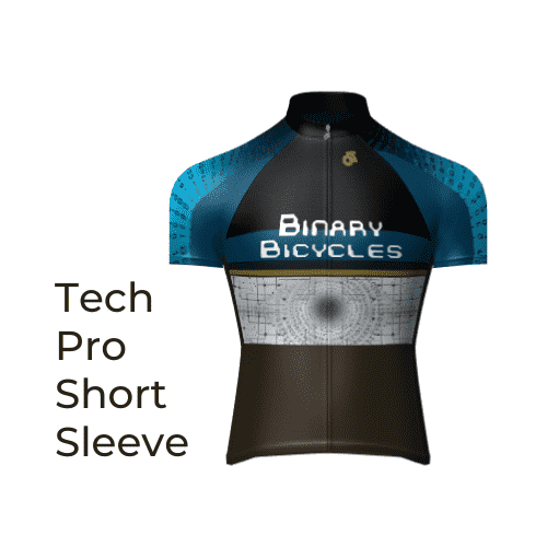 Binary Bicycles Winter 2019 Tech Pro Short Sleeve Jersey front view